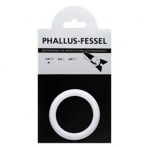 AMARELLE Phallusfessel, Rubber Cockring, M, white