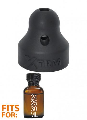 XTRM Booster Large, Poppers Inhaler for Large Bottles, Black, Ø 2,2 cm (0,86 in)
