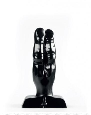 ZIZI XXX TWO FINGERS, BLACK, 10 cm (3,9 in), Ø 3,5 cm (1,3 in)