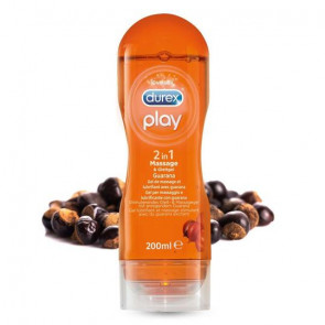 Durex Play 2 in 1, Massage & Lubricant with Guarana, Water Based, 200 ml (6,8 fl.oz.)