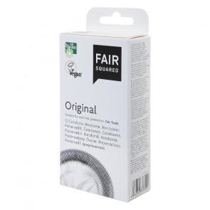 FAIR SQUARED Original Condoms, Vegan & Fair Trade, Latex, 20 cm (7,8 in), 10 pcs