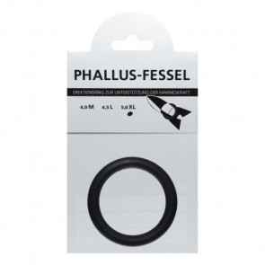 AMARELLE Phallus-Fessel, Latex Cockring, XL, black