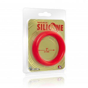 SI IGNITE Wide Silicone Donut 5,1 cm (2 in), Red