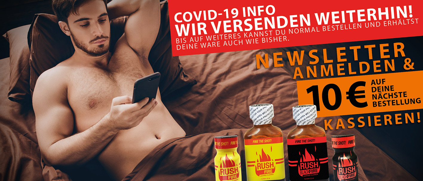 Zwei Jungs mit Rush Poppers